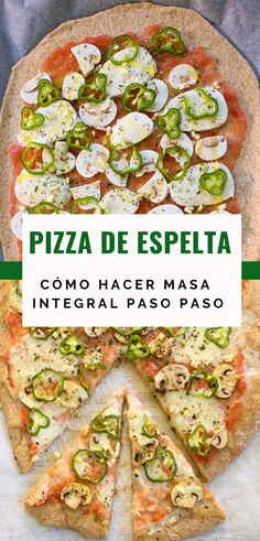 Masa Pizza Integral, Calzone, Avocado Toast, Vegetable Pizza, Tapas, Sandwiches, Healthy Eating, Vegan, Cooking