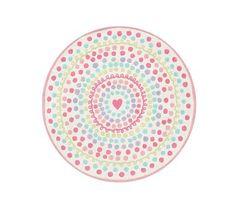 Heart Dot Round Rug #pbkids