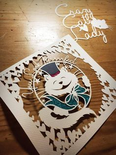 Image of Papercut DIY Design Template - Happy Cats