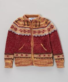 Let little ones celebrate global style in this cozy wool-blend sweater, handcrafted in Ecuador with plenty of playful details. With an easy front zip, two-pocket design and cuddly collar, it brings exuberant warmth to the chilliest of days.