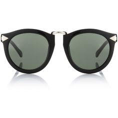0d0403b5704 Karen Walker Eyewear Black Harvest Wayfarer Sunglasses (3 895 ZAR) ❤ liked  on Polyvore