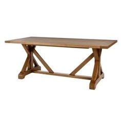 Home Decorators Collection Aberwood Patina Oak Finish Wood Rectangle Trestle Dining Table for 6 in. L x 30 in. H) – The Home Depot – Kitchen Chandelier İdeas.