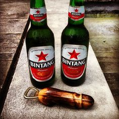 Bintang sure hits the spot after a day on the beach in Bali.