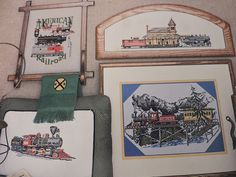 Highballin' Trains Cross Stitch American Railroad All Aboard Commuter Rail Design Charts Puckerbrush Inc Designs Collection Chart Book No 17 Sewing Patterns For Kids, Vintage Sewing Patterns, Raggedy Ann And Andy, Mighty Morphin Power Rangers, Cross Stitch Designs, Charts, Trains, Needlework, Unisex