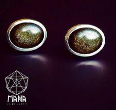Sale obsidian silver earrings by Mana jewellery by MANAByGekova on Etsy