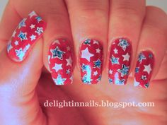 Delight In Nails: The Neverending Pile Challenge - Free Polish - 4th of July!