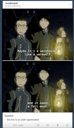 FMA: Warehouse 13! THIS IS TOO FUNNY! It's originally from the light novels, and made it into the first anime :D