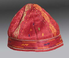 Vintage CLOTHING - Antique South Asian (PAKISTAN ?)  HAT,  circa 1900 - Free Shipping