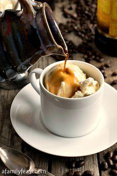 Affogato | www.afamilyfeast.com | A classic Italian dessert.  So simple and so delicious!