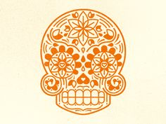 Young & Hungry Mark Exploration designed by Mike Cummings. Connect with them on Dribbble; New Tattoos, I Tattoo, Sugar Skull Tattoos, Sugar Skulls, Young & Hungry, Graphic Art, Graphic Design, Skull Logo, Day Of The Dead Skull