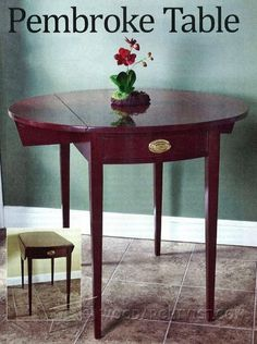 Pembroke Table Plans - Furniture Plans and Projects   WoodArchivist.com