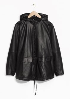 & Other Stories | Hood Leather Anorak