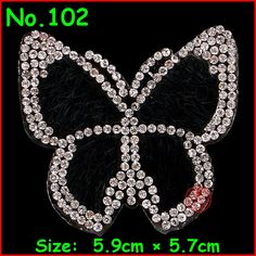 Visit to Buy  2 pcs Lot Crystal Butterfly Patches Motif Hotfix Rhinestone  Applique Jewelry For Children Kids Women Dress Clothes Wedding 6a3ae3c1de14