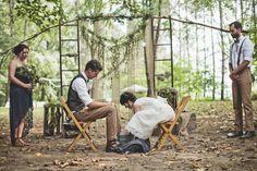 self photography outdoor Personal nature wedding park outside mikey woodland my wedding kristian lynae the goodrich wedding foot washing ceremony  #wedspiration #naturewedding
