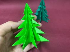 DIY Origami Christmas Tree Tutorial Materials & Tools: - 1 Origami Paper (15cm x 15cm) - Scissor Tutorial Video: ...