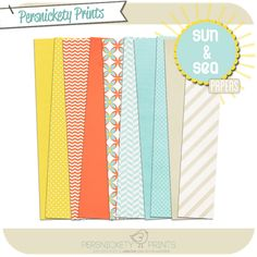 Freebie Sun & Sea Paper from Persnickety Prints. 300 dpi