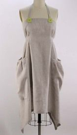 Centuries old linen cut in a modern shape for contemporary women. Front View