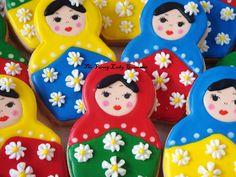 Custom Russian Doll Cookies