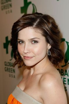 I was inspired by this cut and styled similarly to Ms. Sophia Bush. Thanks to my stylist, she perfected it.