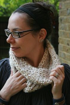 martha stewart knitting loom patterns | Loom knitted oatmeal cowl