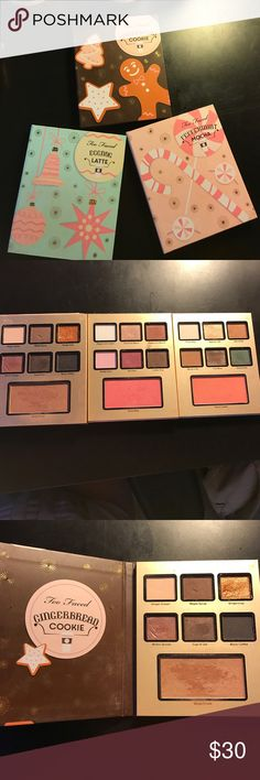 Too Faced Grande Hotel Cafe Quality: EUC  Flaws: N/A  Details: From the Too Faced Holiday 2016 collection ($49). It came with a deluxe size Better Than Sex mascara ($12) so subtract that and plus the used condition, I settled for $30. BUNDLE: Buy 2 items from my closet and save 20% on your entire order 🤗 Too Faced Makeup Eyeshadow