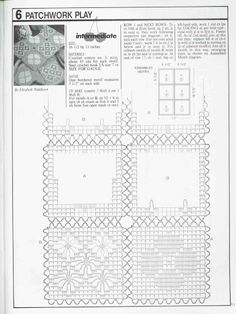 Lovely Flower & Spider lacy squares Filet crochet placemat ~~ CHART