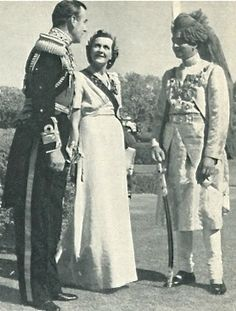My grandparents with the Maharajah of Jaipur.