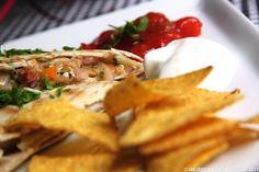 Heidis Verden: Opskrift: Quesadillas med skinkefyld og ny krydderiblanding