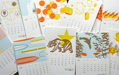 Pivot Interiors calendar, designed by Pivot Interiors, printed by Studio on Fire.