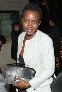 Lupita Nyong'o leaving her London hotel