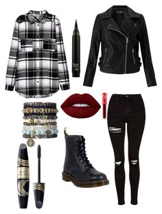 """""""Untitled #250"""" by alisha-dovey on Polyvore featuring Dr. Martens, Miss Selfridge, Lime Crime and Max Factor"""