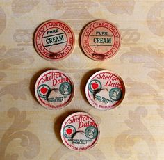 Vintage Milk Bottle Caps  Vintage Dairy Bottle Caps by findergirls