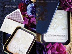 navy boxed invitation