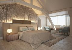 Projet de la Suite Bohème Restaurants, Hotels, Bed, Furniture, Home Decor, Home Decoration, Decoration Home, Stream Bed, Room Decor
