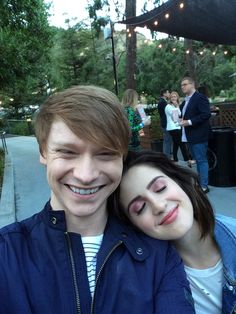 """""""Bumped into this crazy kid at the @aitruthfilm screening!"""" #BeInconvenient #ClimateChangeIsReal - Austin & Ally costars Calum Worthy and Laura Marano reuniting with Ross Lynch at the screening (2017)"""