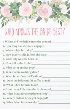 Bridal Shower Activities, Fun Bridal Shower Games, Bridal Shower Planning, Bridal Games, Bridal Shower Party, Wedding Games, Bridal Shower Decorations, Bridal Shower Flowers, Bridal Showers