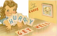Vintage Get Well Card Its In The Cards by TheVintageGreeting, $4.95