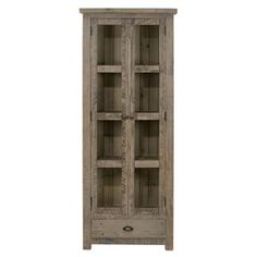 Slater Mill Pine Display Cupboard with Tall and Thin Construction