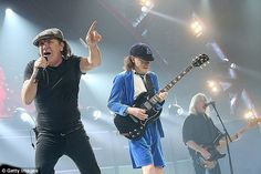The future of one of the world's most high earning rock bands is in doubt after it emerged that doctors have told front man Brian Johnson, pictured on stage with Angus Young and Cliff Williams in Texas last month, to stop touring or risk total deafness Rock And Roll Bands, Rock Bands, Cliff Williams, Feeling Betrayed, Brian Johnson, Angus Young, Axl Rose, Rockn Roll, Back To Black