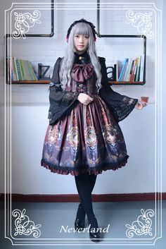 Neverland Lolita (SuffleSong) -Rococo Story- Lolita JSK with Detachable Overlay