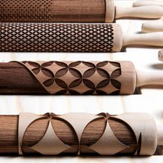 'Rollware' developed by Piet Zwart Institute students Joanne Choueiri, Giulia Cosenza and Povilas Raskevicius. Laser-cut rolling pins designed for baking your own edible dishware. Video demo at this link.