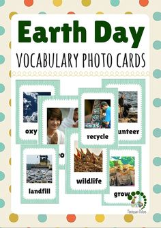 Earth Day Vocabulary Photo Cards   Nature Activities for Preschool Children   Montessori Printables   Educational Materials  