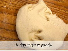 The days the dinos came to school....    Making dinosaur footprints in salt dough. So easy and SO fun!