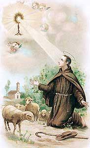 May , 17th.-SAN PASCUAL BAILÓN, mientras cuidaba las ovejas, adoraba al SANTÍSIMO SACRAMENTO