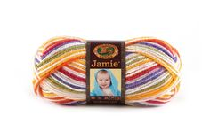 JAMIE- MARDI GRAS STRIPES - This modern update of our classic Jamie® yarn features a sophisticated sherbet color palette and a versatile DK weight. Snuggly soft, machine washable and dryable this yarn is perfect for every baby project.