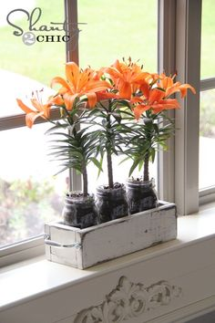 mason jar planter box