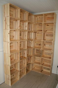 Raw crate wall reclaimed wood ready to stain