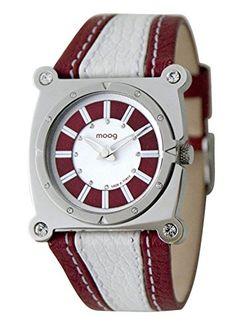 Moog ParisFashion Damen-Armbanduhr, rotes Zifferblatt, Armband Rot und Schwarz aus Rindsleder, hergestellt in Frankreich, M45512-004 - http://uhr.haus/moog-paris/moog-paris-fashion-damen-armbanduhr-zifferblatt-2