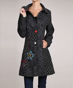 Look at this Neslay Paris Charcoal Paisley Wool-Blend Car Coat on today! Types Of Coats, Refashion, Coats For Women, Wool Blend, Fall Outfits, Paisley, Charcoal, Autumn Fashion, Tunic Tops