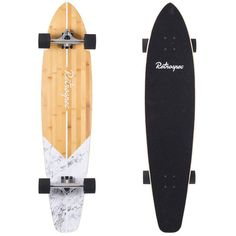 Zed masters both suburban streets and beachside boulevards with durable PU wheels, lightweight aluminum trucks, and 44 sturdy inches of sustainably sourced bamboo and solid Canadian maple. Shop now! Skateboard Deck Art, Penny Skateboard, Surfboard Art, Skateboard Design, Skateboard Girl, Surfboard Brands, Skate 3, Skate Bord, Skate Shop